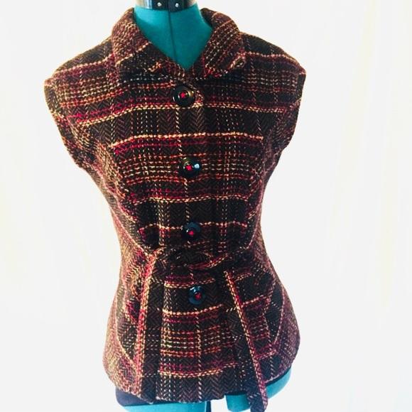 4a99e0488d CAbi Cinch It Up Wool Blend Plaid Tweed Vest #691